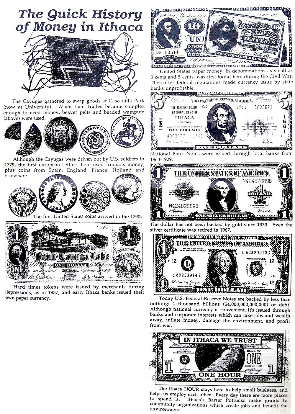 History of Money in Ithaca
