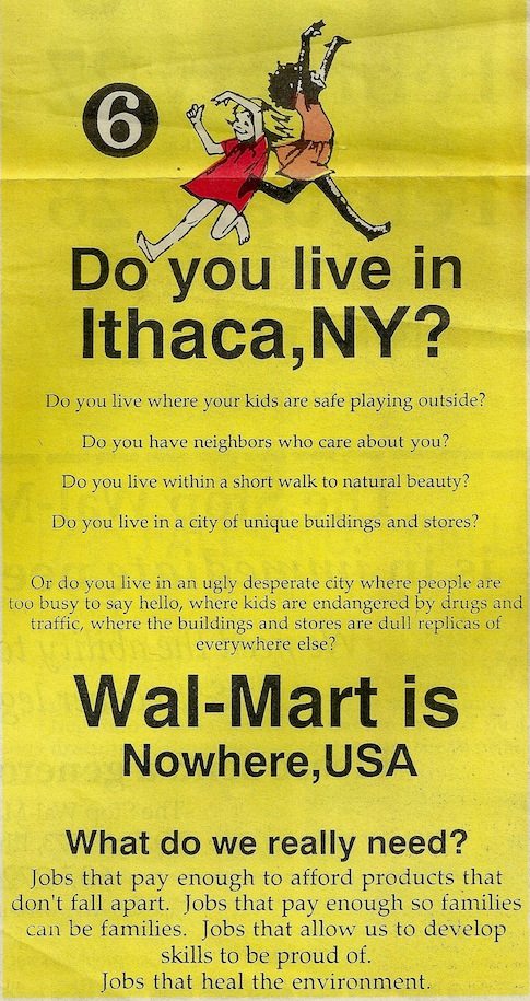 walmart do you live in ithaca?
