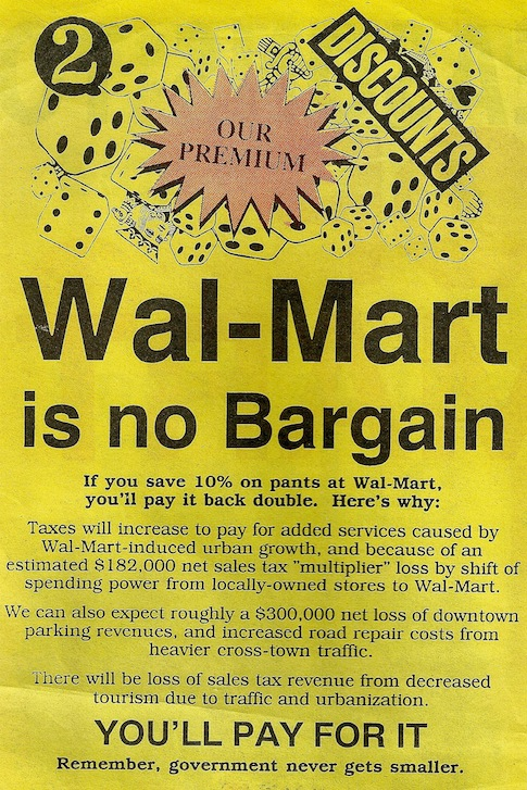 wal-mart no bargain